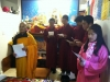 Youth chanting at Peace Temple